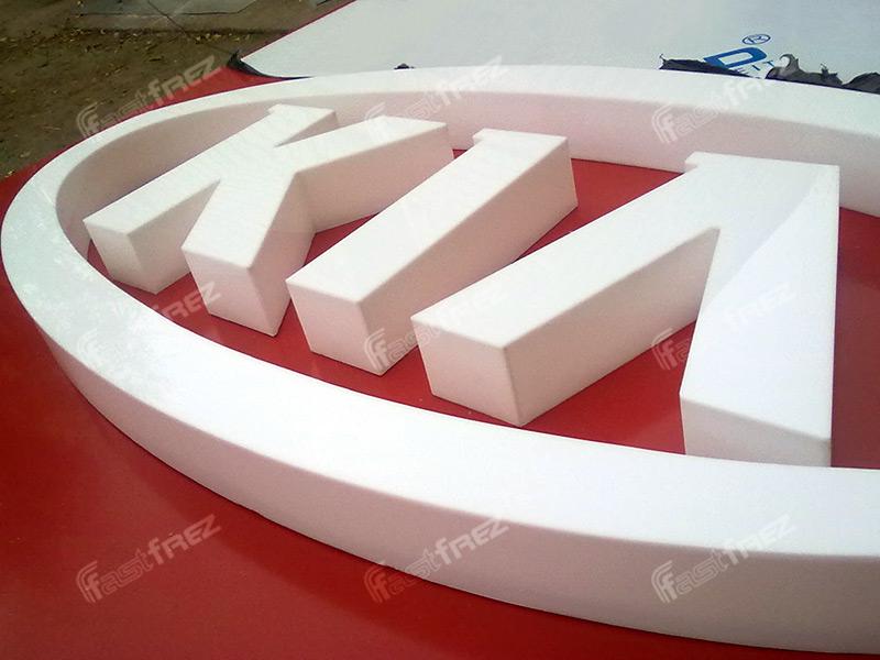 Как сделать с пластика объемные буквы
